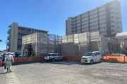 5階建賃貸マンション 1階コンクリート打設