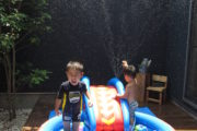 庭でプールを楽しんでも人の視線が気にならない家