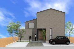 宝積寺モデルハウス 建て方完了